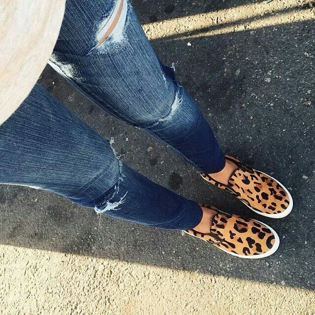 sneakers, Leopard slip on, Leopard shoes