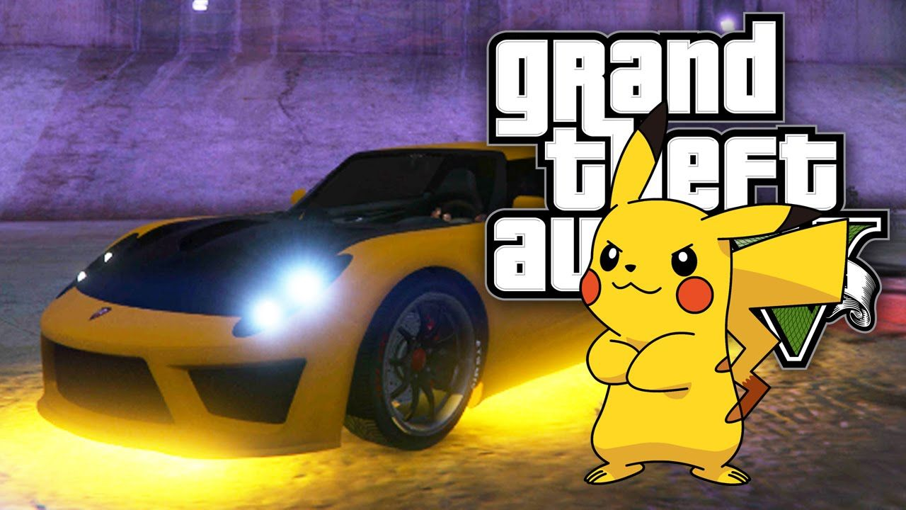 Gta 5 online pimped out pikachu car gta v online ps4