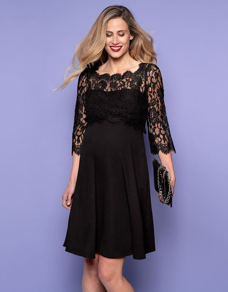 Black Lace Maternity & Nursing Dress | Black lace ...
