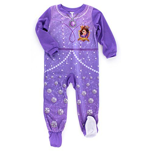 d9a56e5018 Sofia the First Toddler Purple Sleeper Pajamas (2T) American Marketing  Enterprises INC http