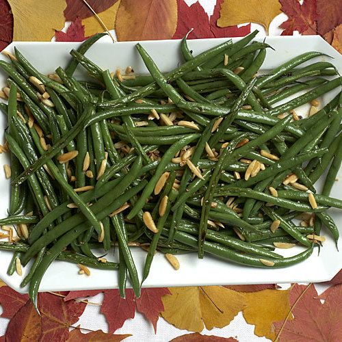Green Beans Amandine with Almonds and Garlic #greenbean