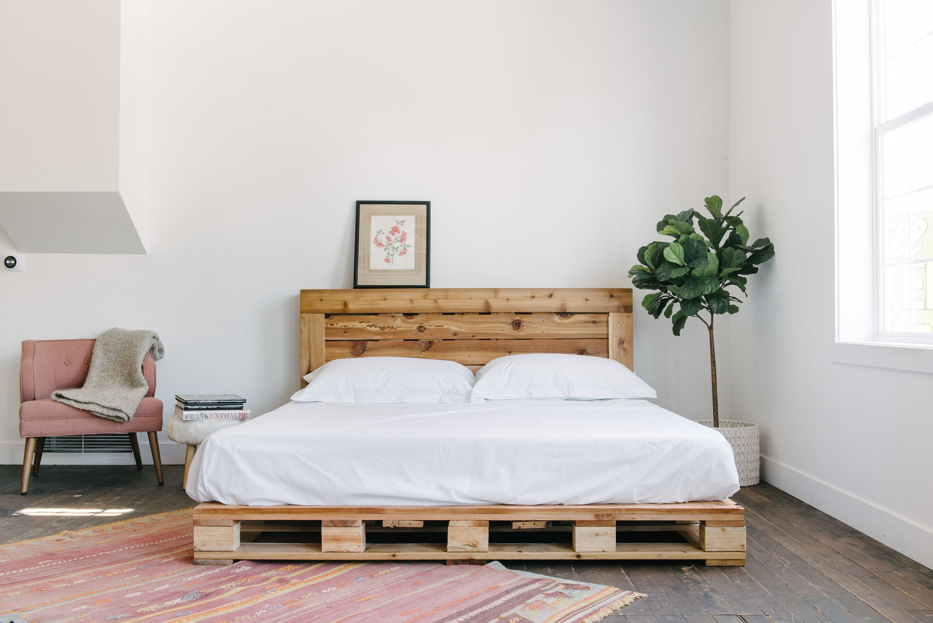 Pallet Bed The King Size Includes Headboard and Platform