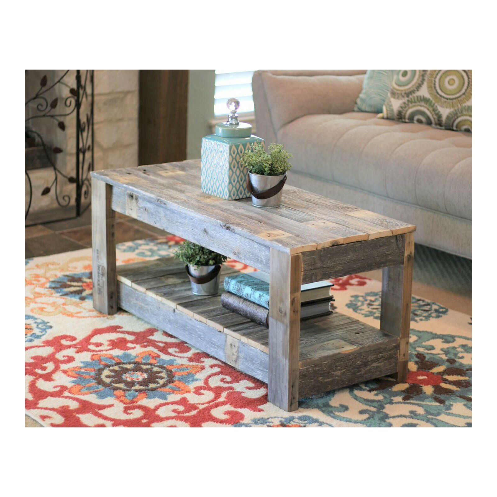 Easthampton Solid Wood Coffee Table With Storage Coffee Table Farmhouse Unfinished Coffee Table Rustic Coffee Tables