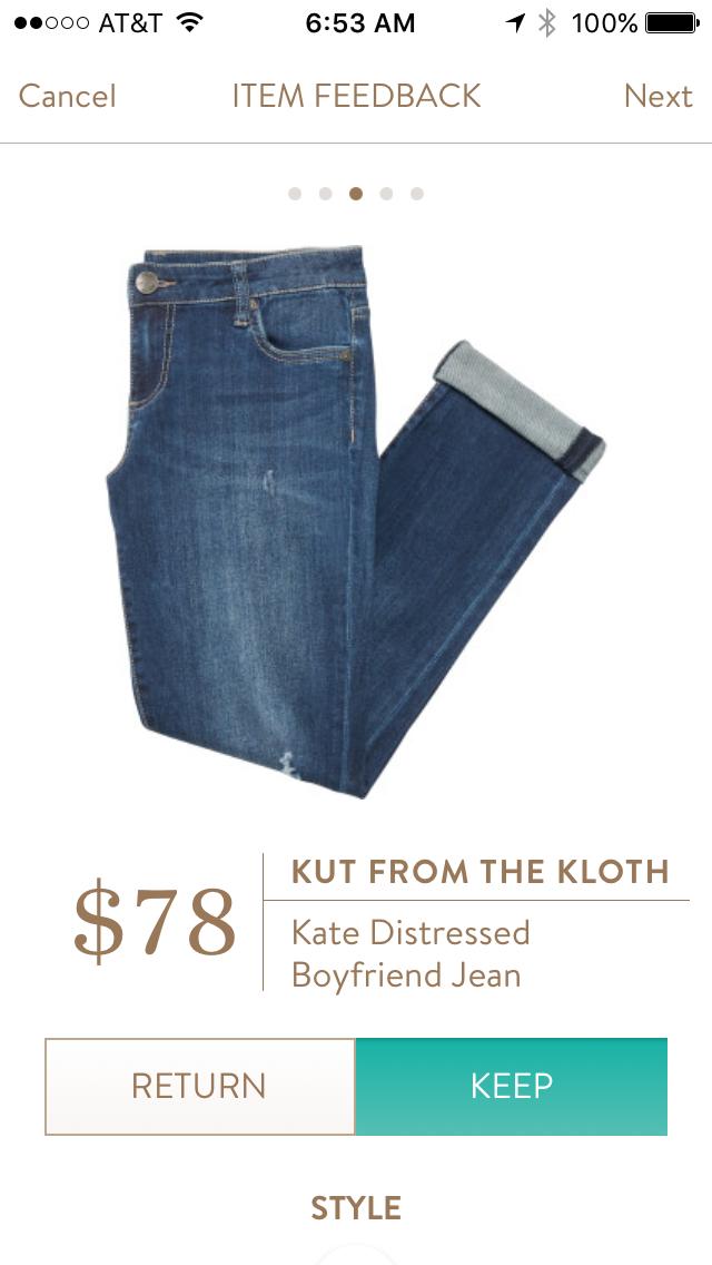 kate boyfriend distressed jean womens