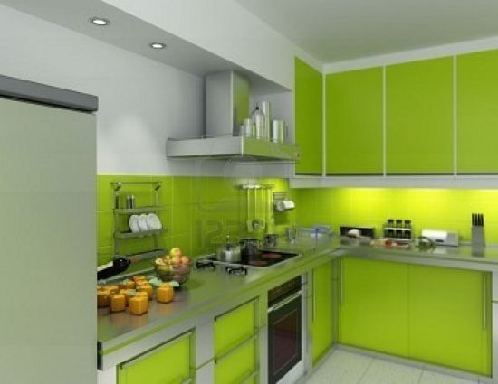 Modern Kitchen Green spacious green modern kitchen design 20 top spacious and modern