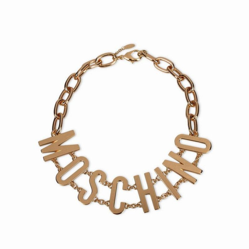 4fafbacedeb Moschino Gold MOSCHINO Letters Womens Necklace   love moschino ...