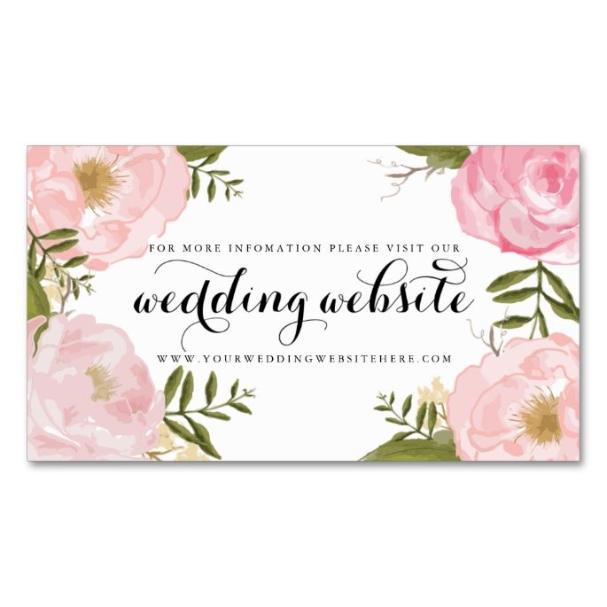 Wedding Gift Stores Nyc: Modern Vintage Pink Floral Wedding Website Card