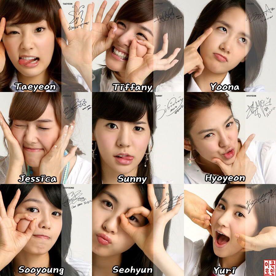 girls generation the group members with names they appeared as a