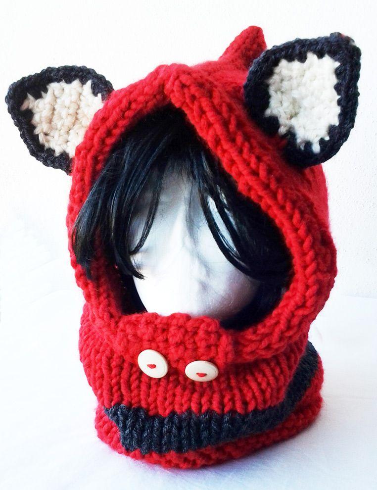 Gorro orejas Un gorro capucha de lana con unas orejas muy lindas ...
