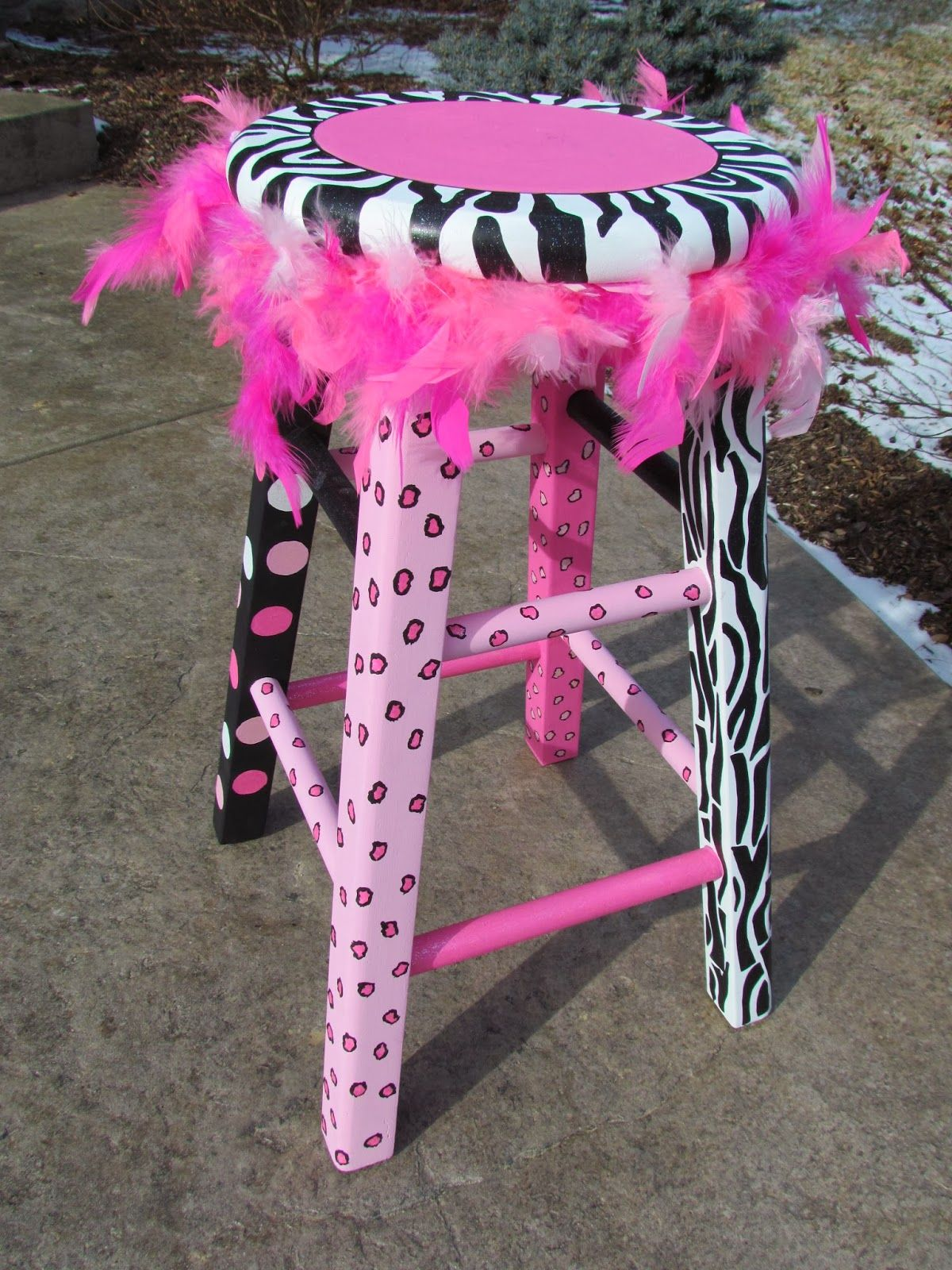 Shopdog Furniture Custom Painted Girls Stool A Fresh