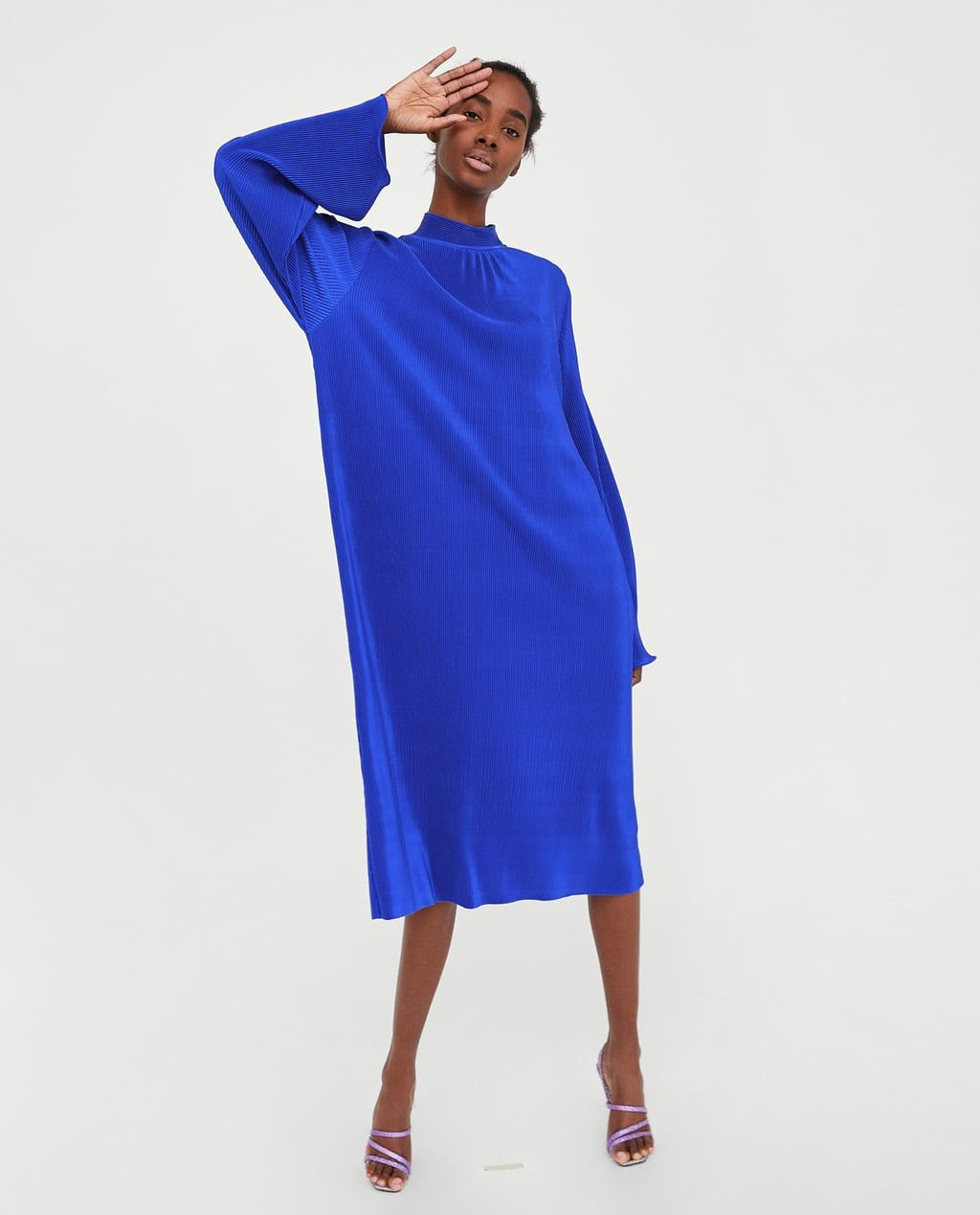 Bekend Afbeelding 1 van LANGE JURK MET FIJN PLISSÉ van Zara | Fashion  #PL79