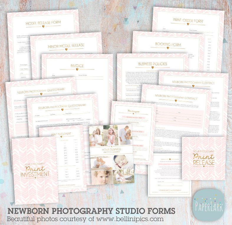 Newborn Photography Contracts And Forms Set Ng  Newborn
