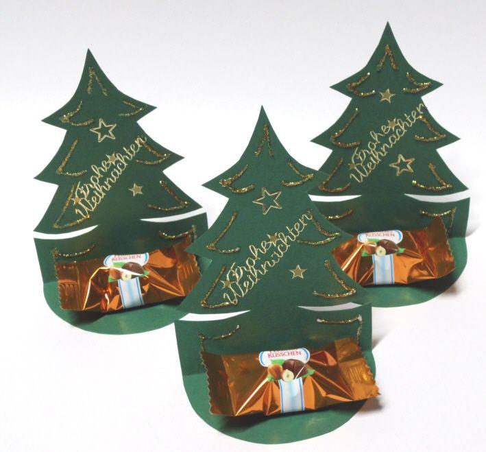 Bastelideen Tannenbaum.Süße Tannenbäume Weihnachten Geschenke Weihnachten Tischdeko
