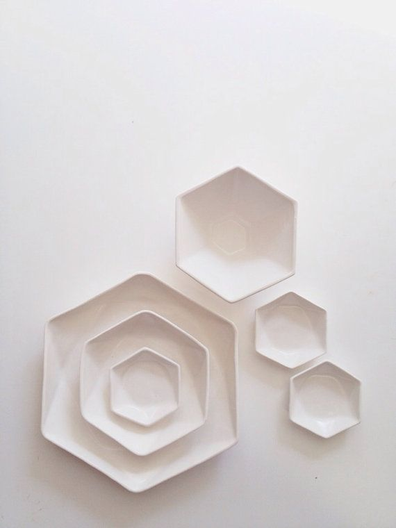 Hexagon Dinner Plate & Hexagon Dinner Plate | Dishes Glaze and Dips