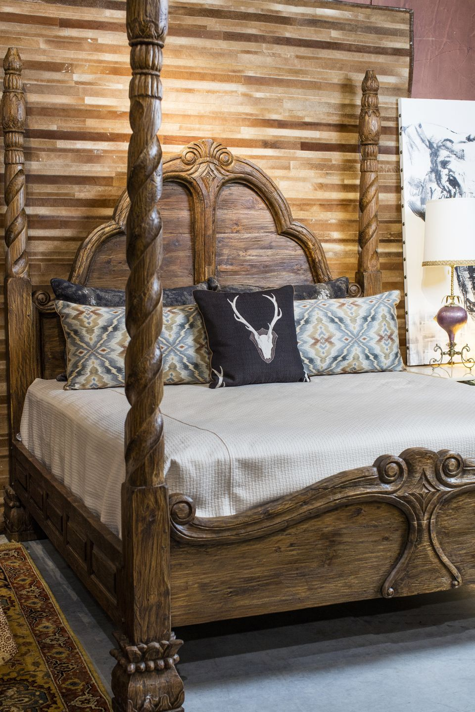 4 Poster King Bed Western Bedroom Decor Western Home Decor Rustic Bedroom
