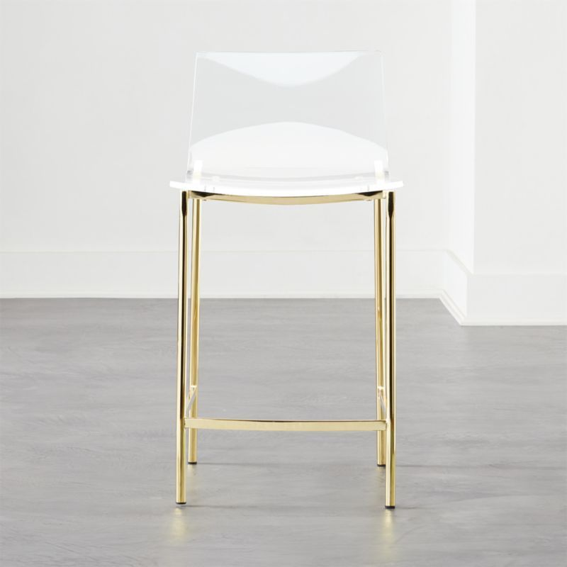 Chiaro Clear Counter Stool 24 Gold Reviews Counter Stools