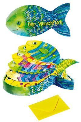 Der Wunschfisch Box Mit Wunschkarten Und Umschlag