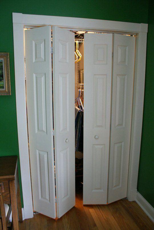 Converting A Bi Fold Door Folding Closet Doors Bifold Doors Closet Bedroom