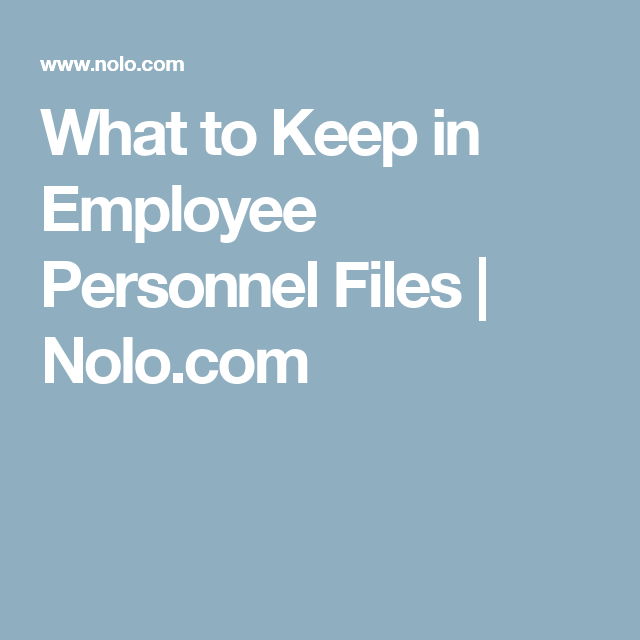 What To Keep In Employee Personnel Files  NoloCom  Hr