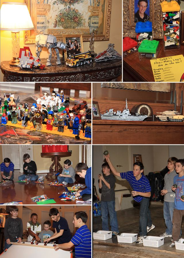 11 Year Old Boy Birthday Party Ideas Js 8 year Lego party bday