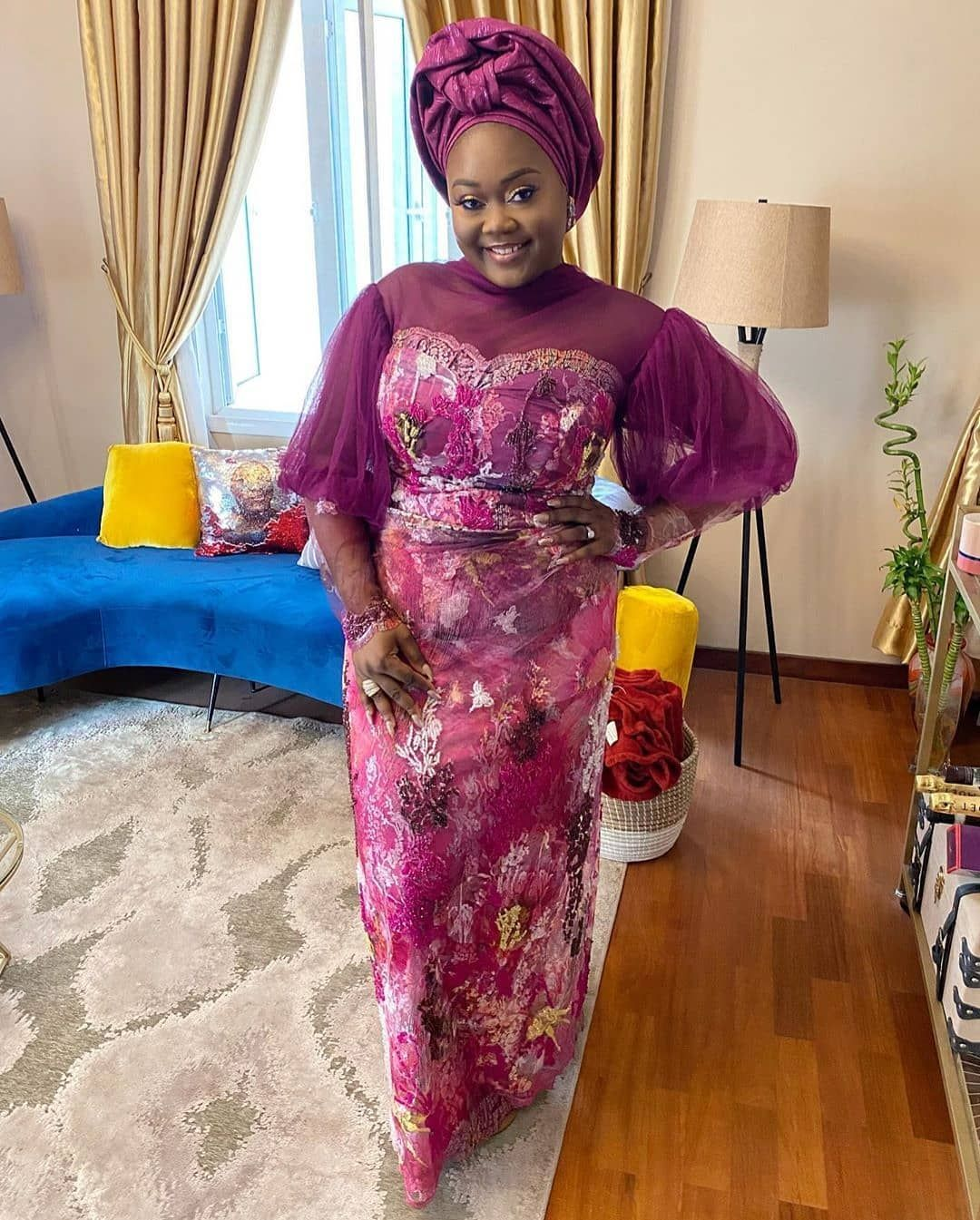 Ms Asoebi On Instagram Wedding Guest Mrsoduts Lush20 In 2020 African Lace Dresses African Lace Styles Lace Blouse Styles
