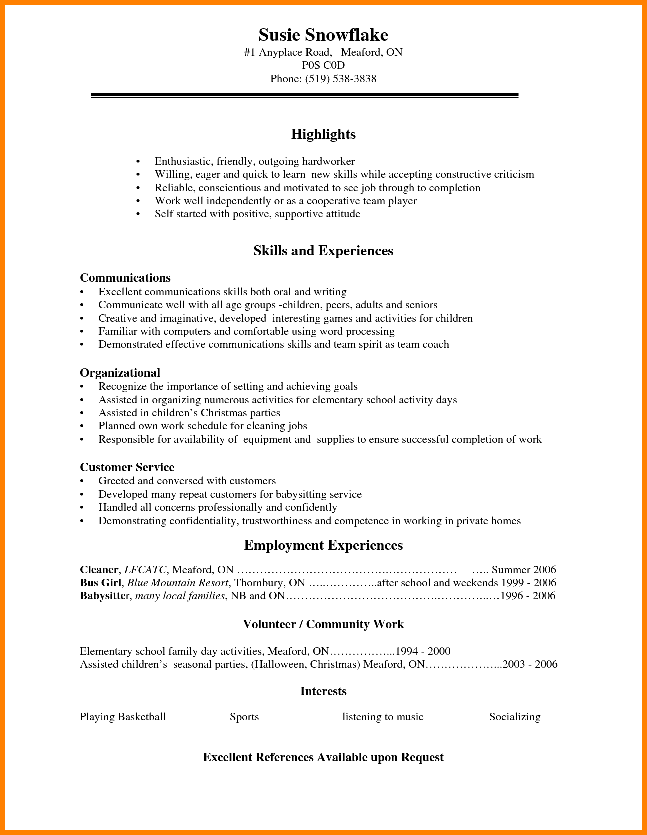 5 Cv Template For High School Students Theorynpractice Student Resume Template Resume Objective Examples Resume Skills