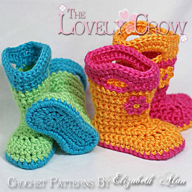 Toddler Goshalosh Booties pattern by Elizabeth Alan | Pinterest ...