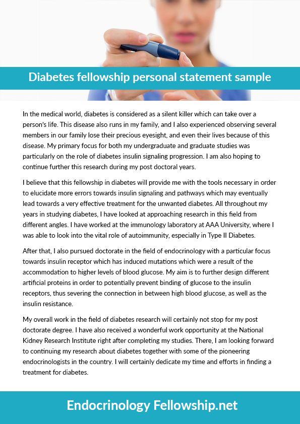 diabetes fellowship personal statement sample (ernestleach58) on - personal statement sample
