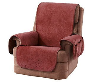 Groovy Sure Fit Soft Velvet Floral Pinsonic Patterned Recliner Pdpeps Interior Chair Design Pdpepsorg