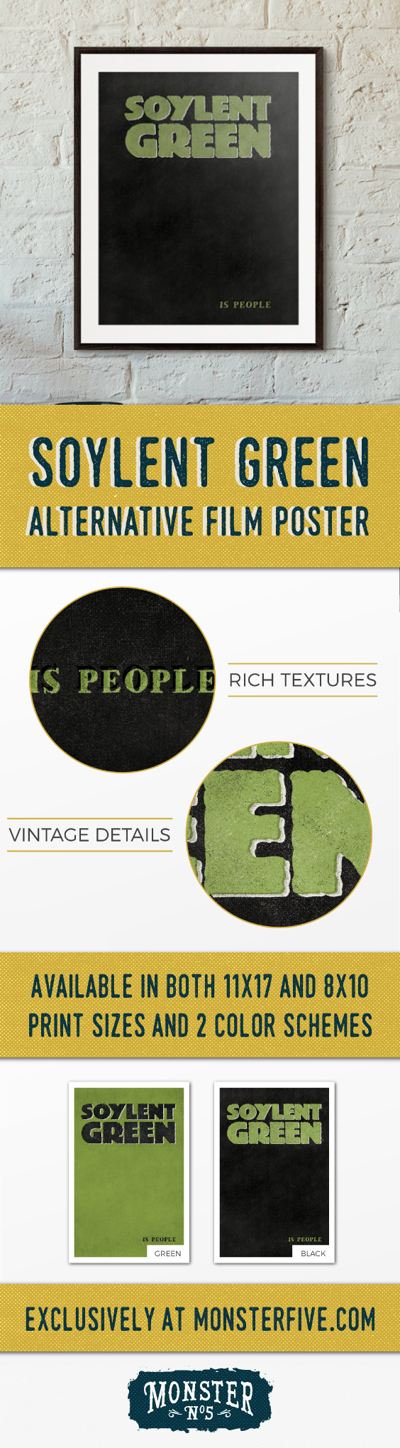 Soylent Green Is People | 8x10 Alternative Movie Poster | Typography ...