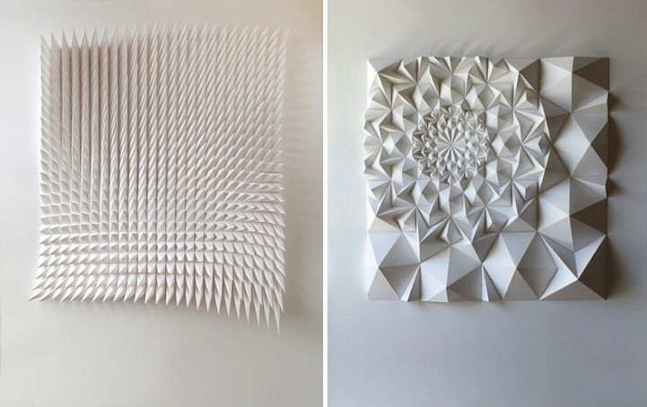 Intricately Folded Geometric Paper Sculptures - My Modern Metropolis