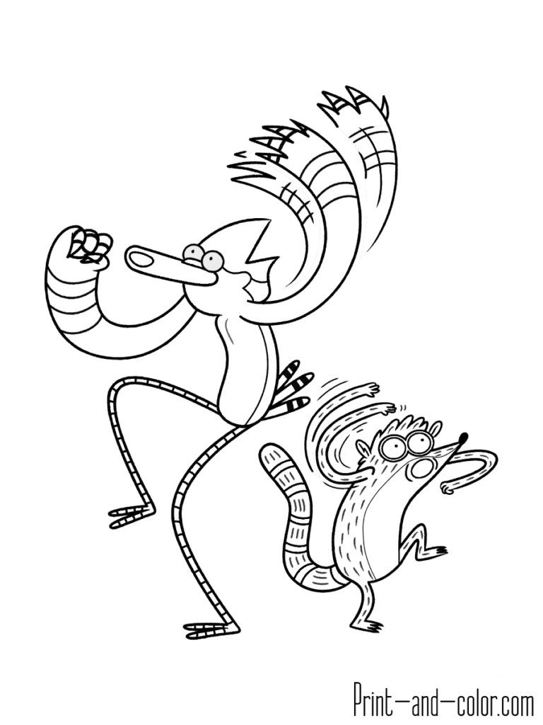 Mordecai And Rigby Oooooh Regular Show Coloring Pages Movie Tattoos