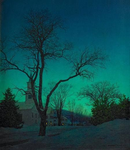 Maxfield Parrish - at close of day 1941