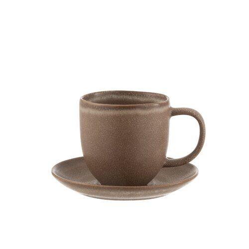 Kaffeebecher und Untertasse Boren ModernMoments Farbe: Cognac