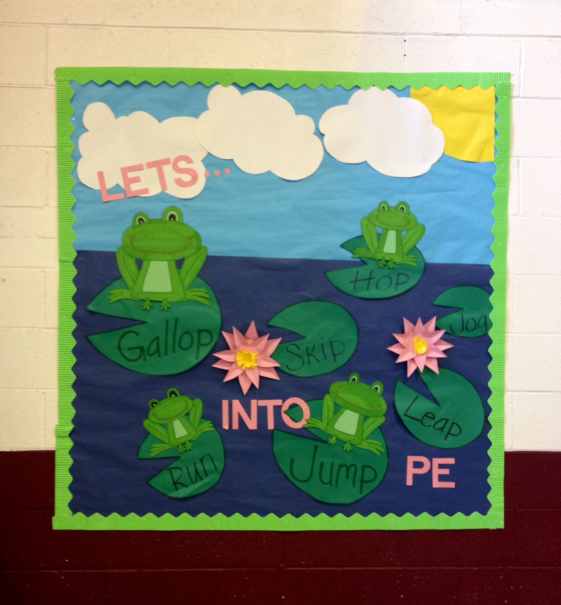 Bulletin Board Ideas With Frogs: Frogs Lilly Pads Pond Hop Skip
