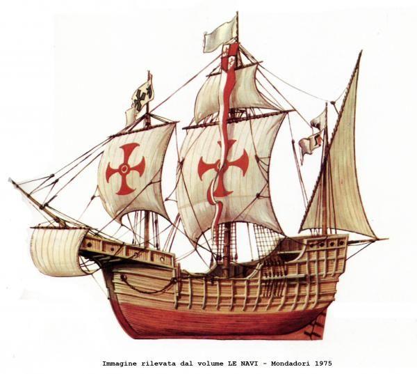 SANTA MARIA - caravella nao. La famosissima ammiraglia di Cristoforo Colombo nella ricostruzione fatta eseguire dal Governo spagnolo nel 1892 in occasione del quarto centenario della scoperta dell'America e della Esposizione Internazionale di Chicago.