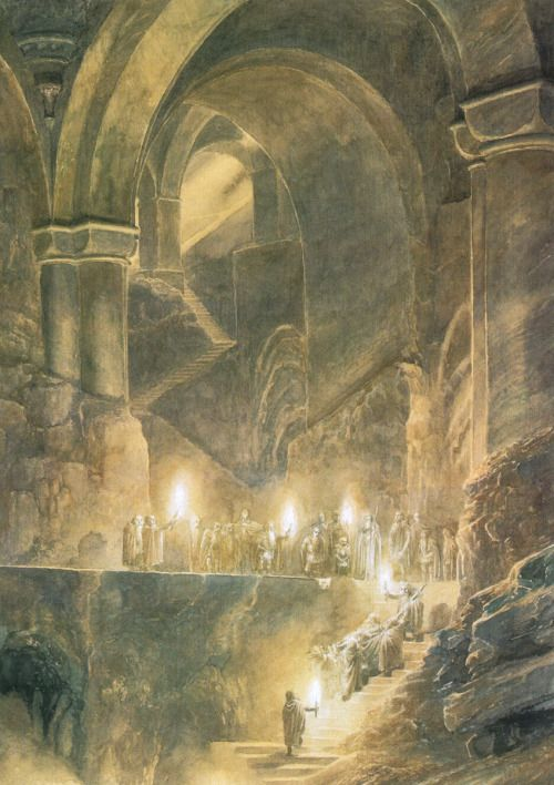 The Burial of Thorin Oakenshield, by Alan Lee