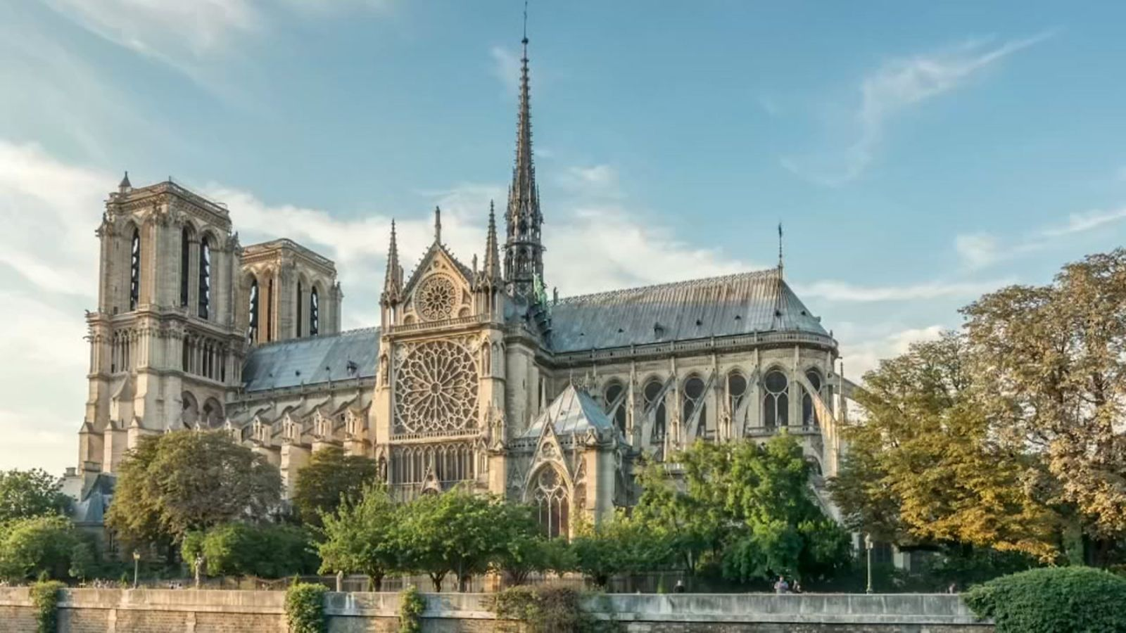 Notre Dame Cathedral Before And During The Fire Abc7news Com