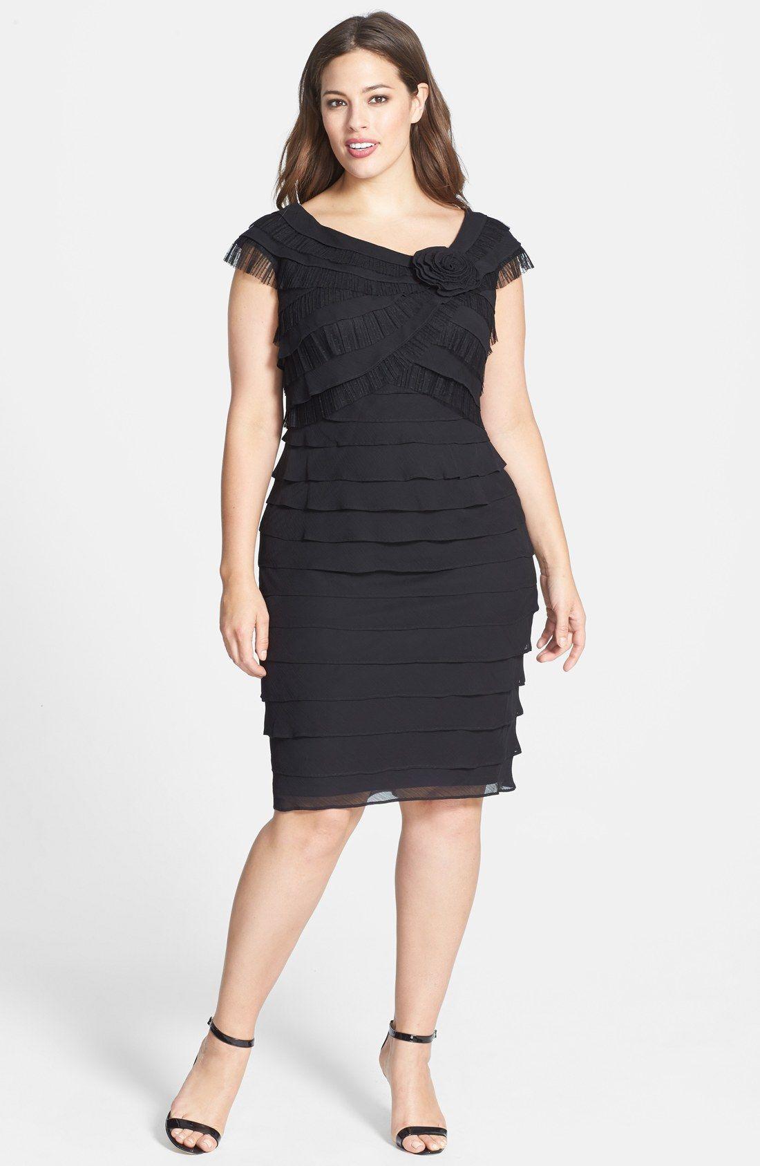 London Times Rosette Detail Shutter Pleat Dress Plus Size Nordstrom