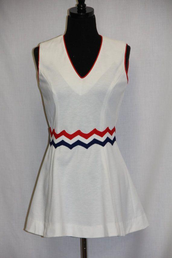 Vintage 70s Tennis Dress Loomtogs Tennis Whites Tennis Dress Tennis Whites Tennis Clothes