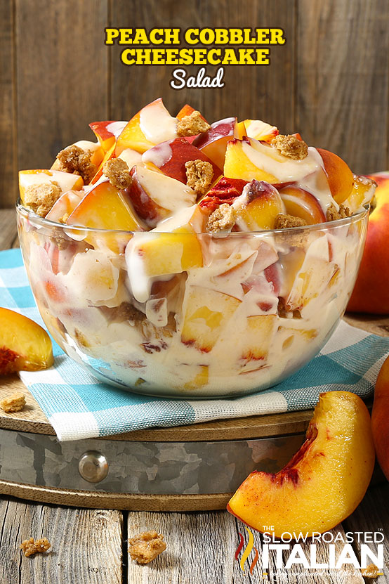 Peach Cobbler Cheesecake Salad (With Video)