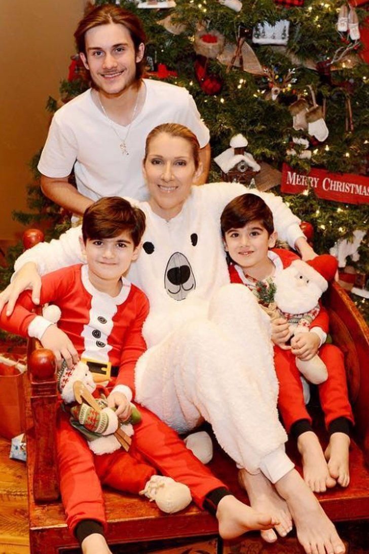 Celine Dion Shares Cozy Photos Of Her Sons First Christmas Without Their Dad Rene Angelil Celine Dion Celine Marie Claudette Dion Celine
