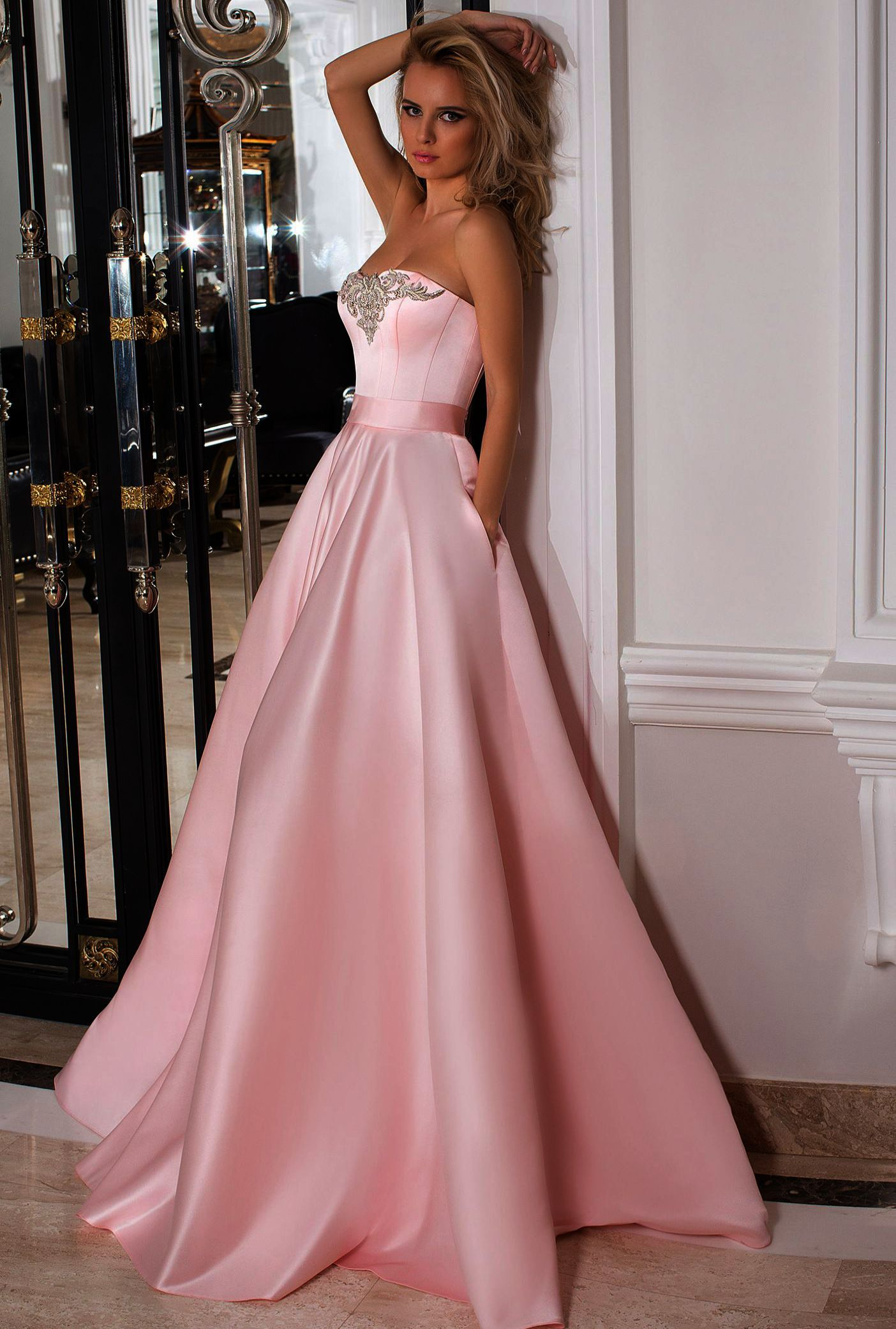 Lava Ring Womens Mermaid Crystal Beaded Satin prom dress