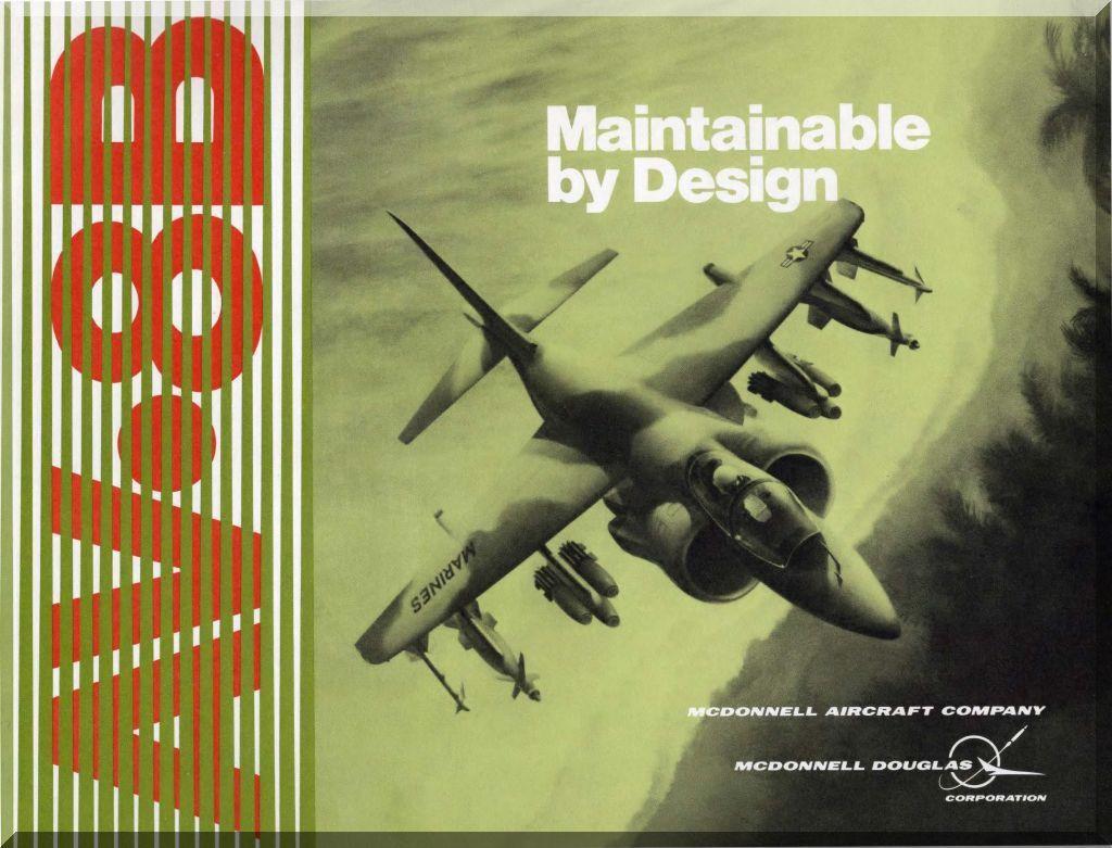 Mc Donnell Douglas AV-8 B Aircraft Technical Brochure Maintainable by Design  Manual - -