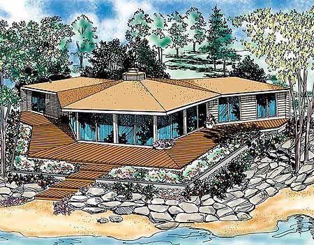 Hexagon house design plans - House design
