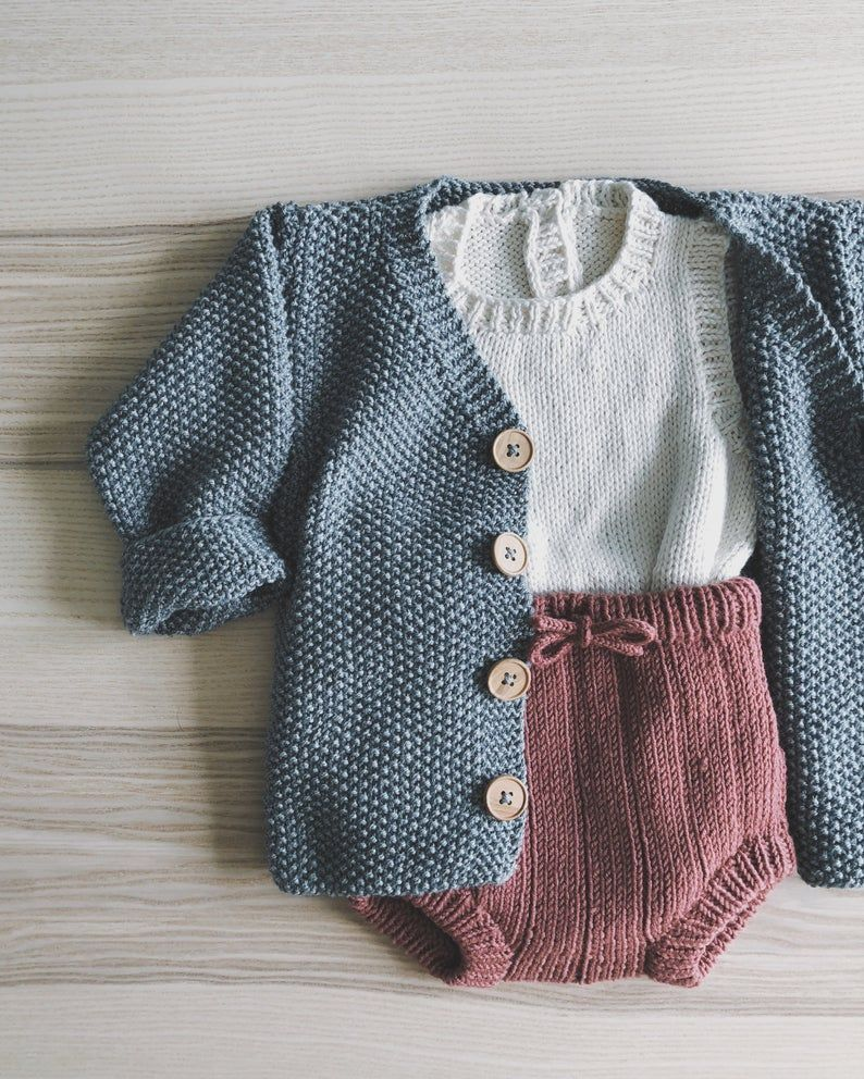 Baby Shorts PDF Knitting Pattern - Bertie Bloomers Knitted Pants - Instant Download - Baby Knitting Pattern - Baby Soakers