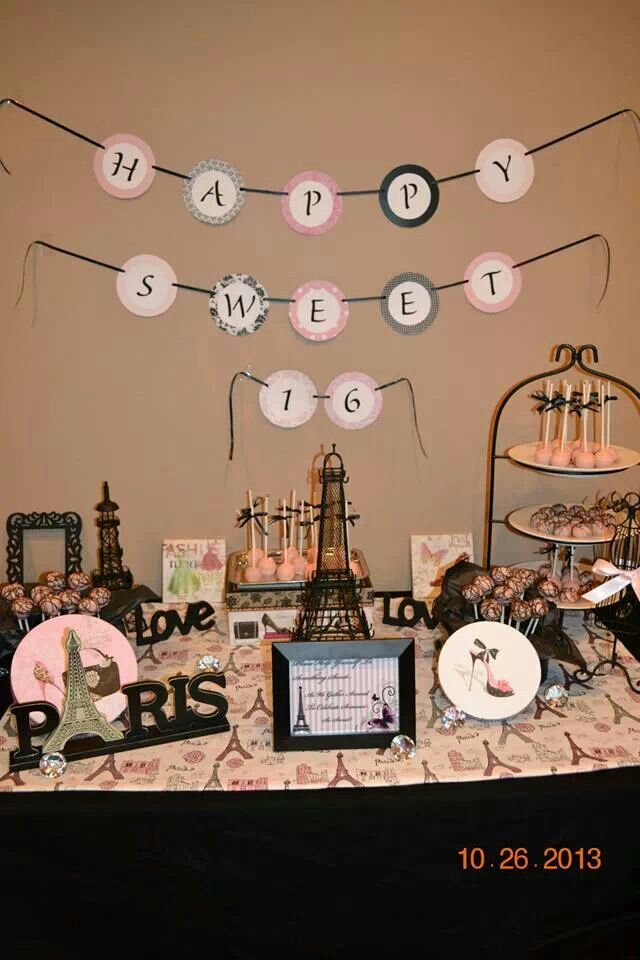 Pin By Crafty Little Market On Vanessa S Paris Themed Sweet 16 Paris Birthday Theme Paris Sweet 16 Paris Theme Party