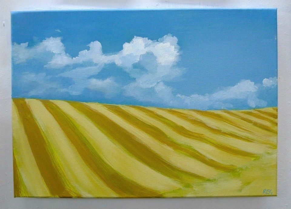 Harvest Field Oil on canvas
