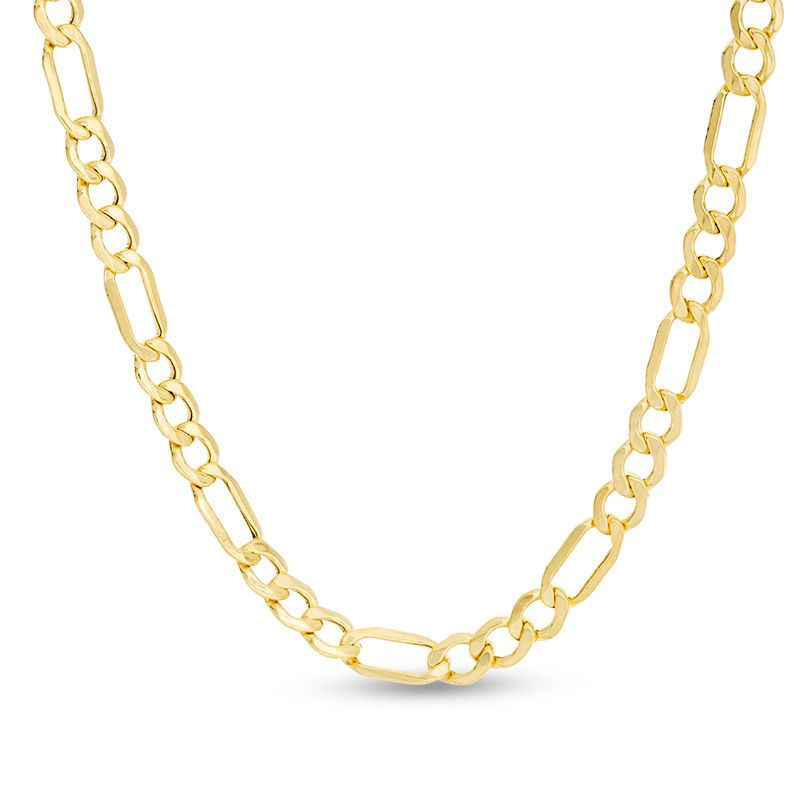63addbfc02943 100 Gauge Bevelled Figaro Chain Necklace in 10K Gold - 22
