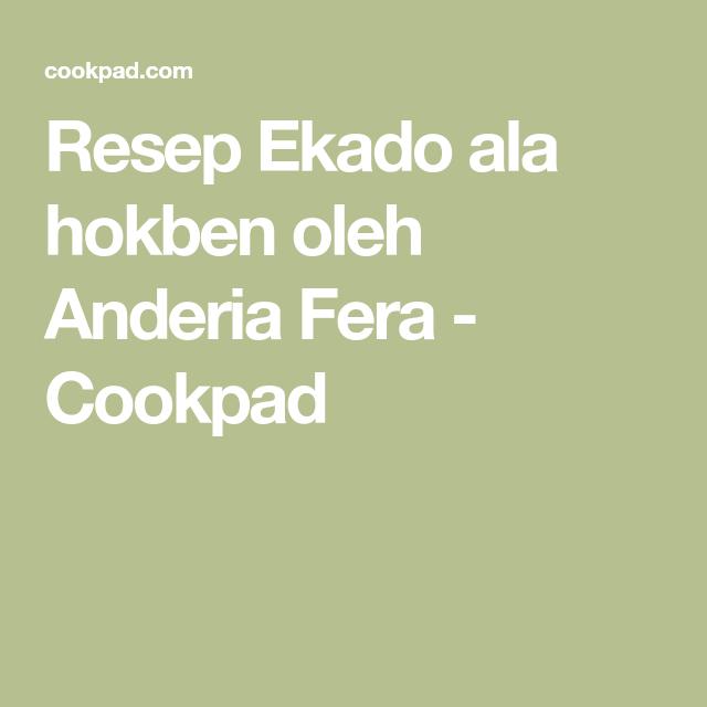 Ekado Ala Hokben Resep Resep Tahu Dan Minyak Wijen